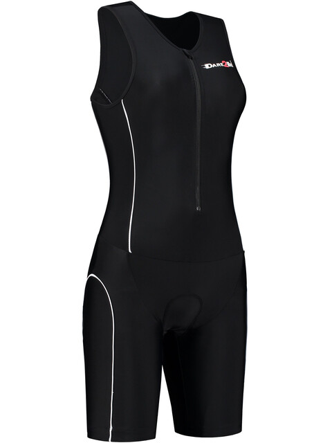 Dare2Tri Frontzip Trisuit Women black-white